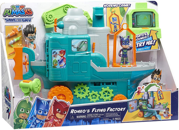 PJ Masks Romeo's Flying Factory Playset - TOYBOX Cyprus