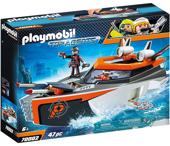 Playmobil 70002 SPY TEAM Turboship Top Agents Playset - TOYBOX Toy Shop