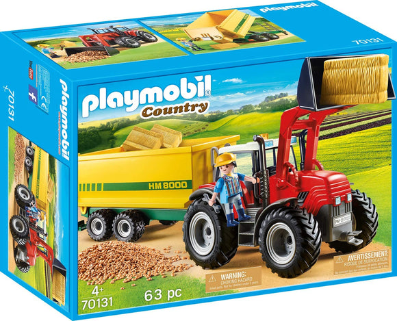 Playmobil 70131 Tractor with Feed Trailer Playset - TOYBOX Toy Shop