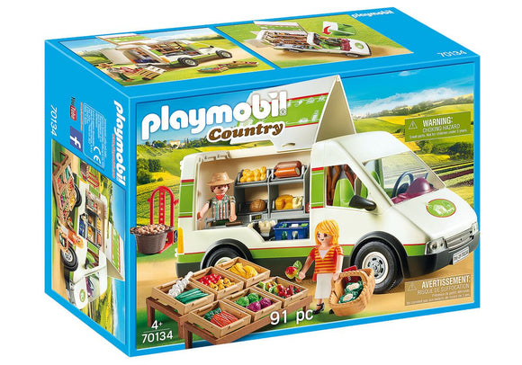 Playmobil 70134 Country Mobile Farmer's Market Van Playset - TOYBOX Toy Shop