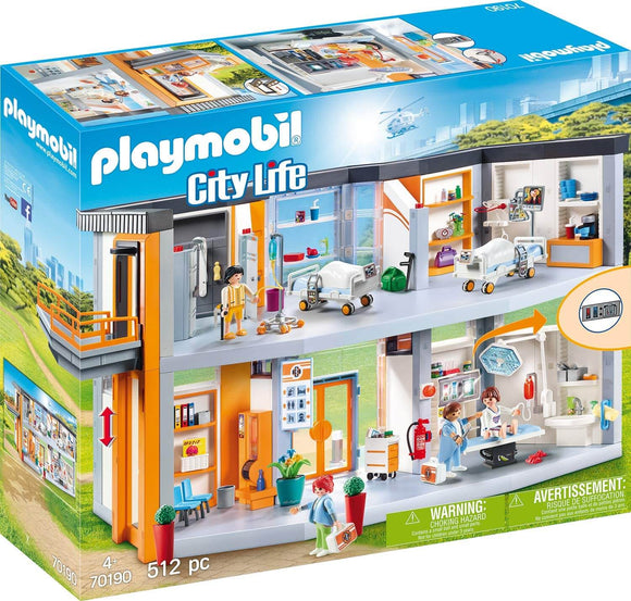 Playmobil 70190 City Life Large Furnished Hospital with Lift - TOYBOX Toy Shop