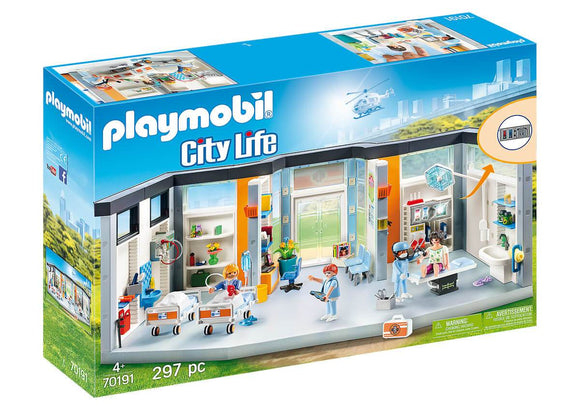 Playmobil 70191 Furnished Hospital Wing Playset - TOYBOX Toy Shop