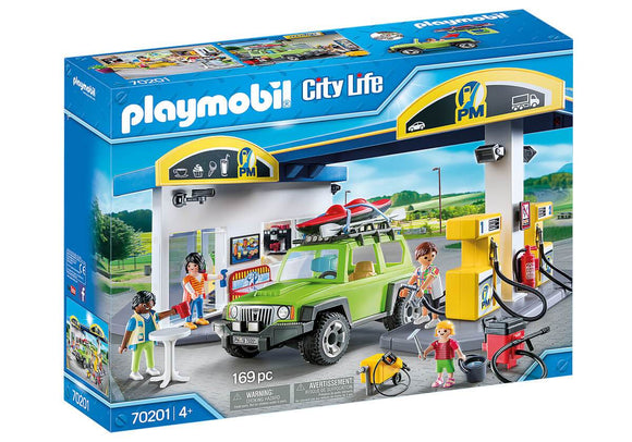 Playmobil 70201 Gas Station Playset - TOYBOX Toy Shop