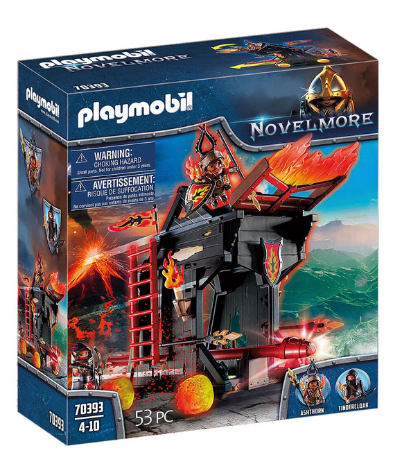 Playmobil 70393 Novelmore Knights  Burnham Raiders Fire Ram - TOYBOX Toy Shop