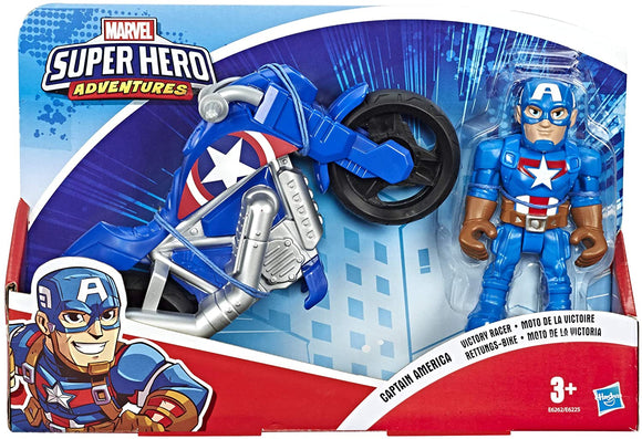 Playskool E6262ES0 Heroes Marvel Super Hero Adventures Captain America - TOYBOX Toy Shop