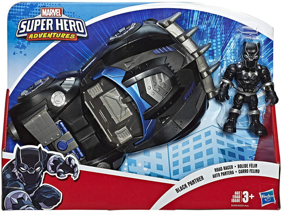 Playskool Super Hero Adventures Sha Black Panther Road Racer - TOYBOX Toy Shop