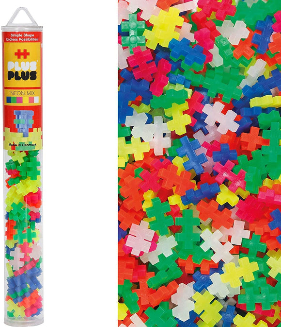 PLUS-PLUS Building Blocks Tube - Assorted Building Blocks Plus-Plus