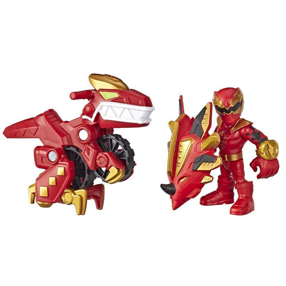 Power Rangers Playskool Heroes Red Ranger and Raptor Cycle Figure and Vehicle 2-Pack - TOYBOX Cyprus