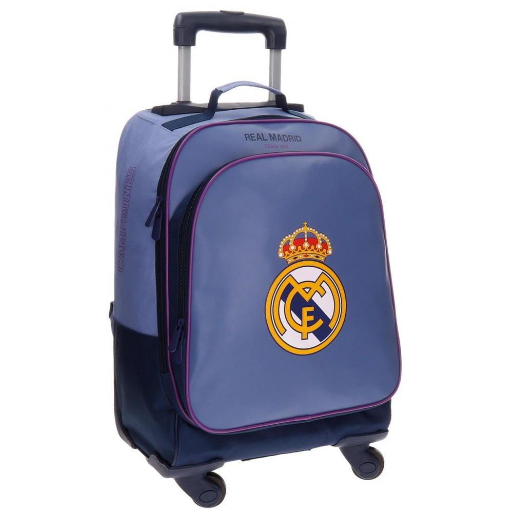 REAL MADRID School Trolley Backpack, Leather 50 cm - TOYBOX Toy Shop