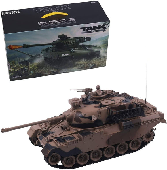 Remote Control Military Tank 1:18 Scale Replica for Shooting BB Bullets - TOYBOX Cyprus