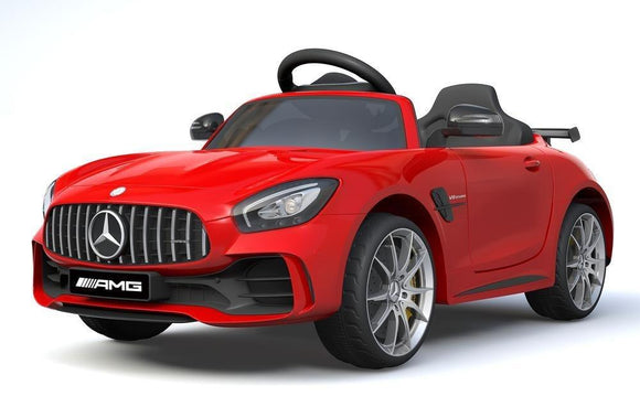 RICCO 6V 4.5A Two Motors Mercedes Benz GTR AMG Licenced Battery Powered Kids Electric Ride On Toy Car, Red - TOYBOX Toy Shop