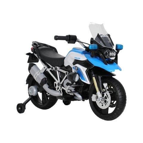 ROLLPLAY Germany Electric 6V Battery BMW R1200 GS Police Motorcycle, Blue - TOYBOX Toy Shop