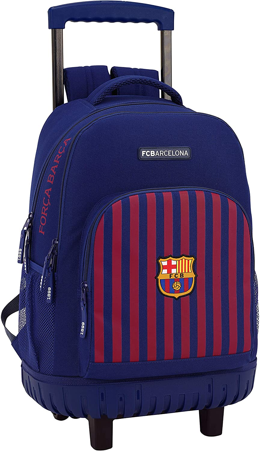 Safta FC Barcelona Large Backpack Trolley with Wheels - TOYBOX Toy Shop