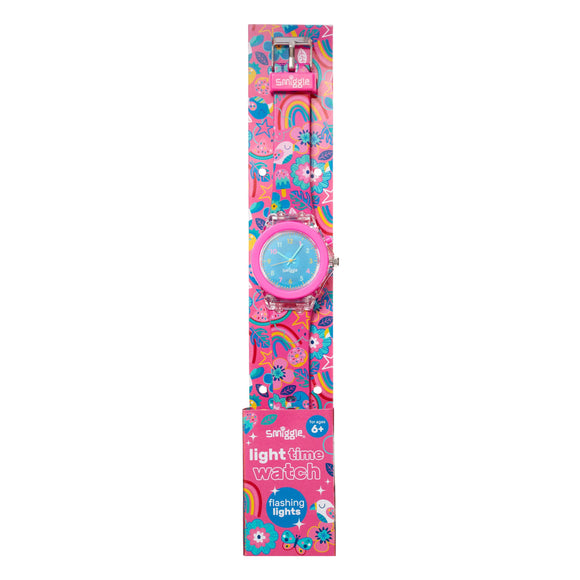 Smiggle 443036 Flow Light Time Flashing Watch Pink - TOYBOX Toy Shop