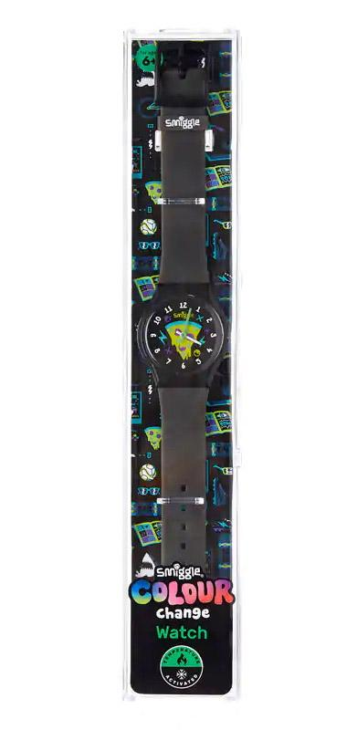 Smiggle Colour Change Watch Black/Green Electronics SMIGGLE