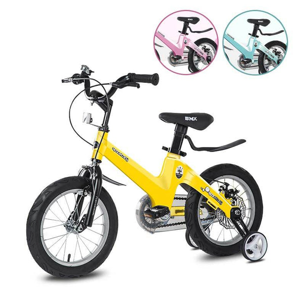 Spacebaby 12-inch Kids BMX Bicycle - Yellow Sports Spacebaby