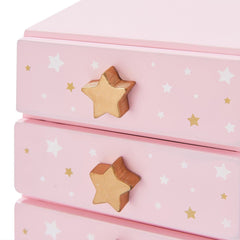 Teamson USA TD-12884A Fashion Star Prints Renee Jewelry Box - Pink / White / Gold - TOYBOX Cyprus