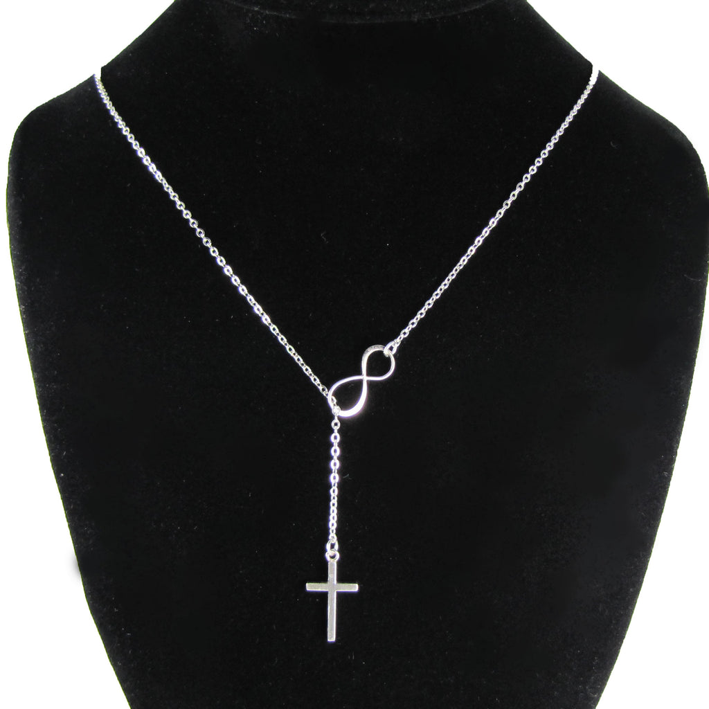 silver over infinity on dolce orders watches shipping necklace free cross y jewelry overstock and product giavonna sterling
