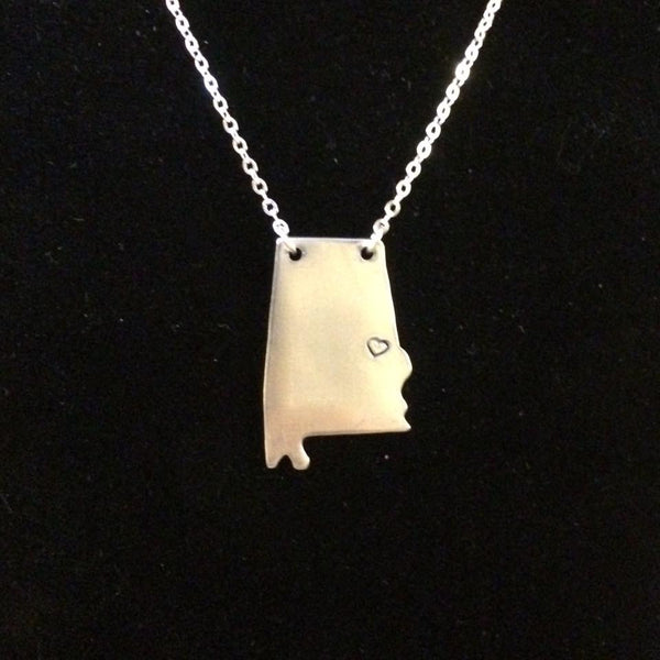 State of Alabama Necklace Handcrafted