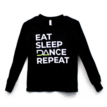 Eat Sleep DAnce Repeat Youth Long Sleeve