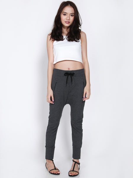 NELLY Drop Crotch Jogger Pants (Grey)