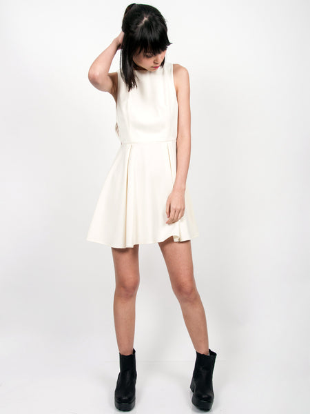 WILLA Side Cutout Dress (Cream)
