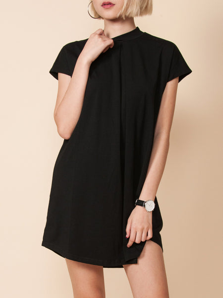 QUINN High Neck Dress (Black)