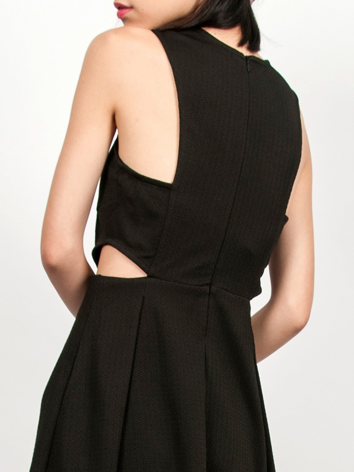 TAVI Textured Skater Dress (Black)