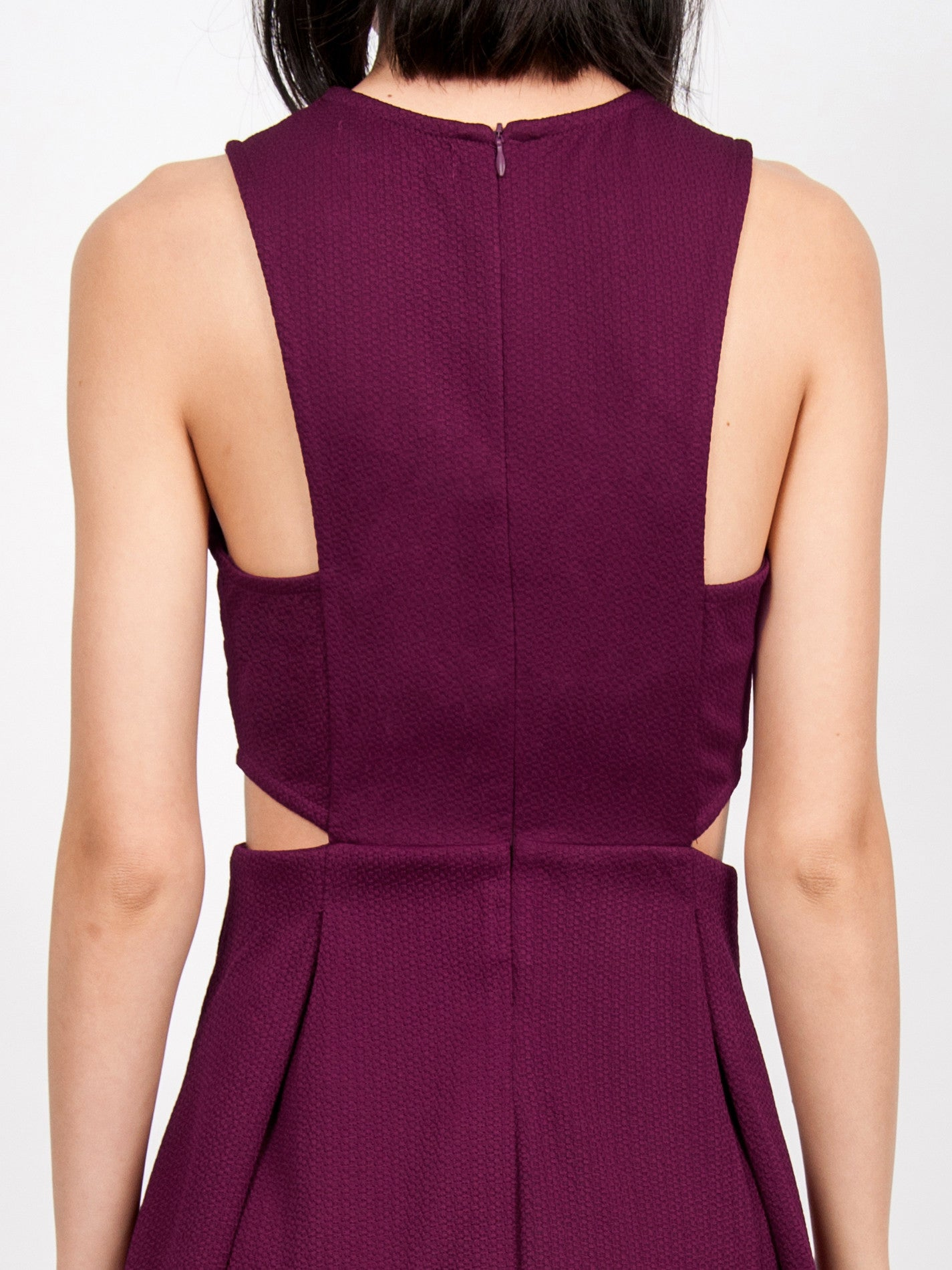 TAVI Textured Skater Dress (Wine)