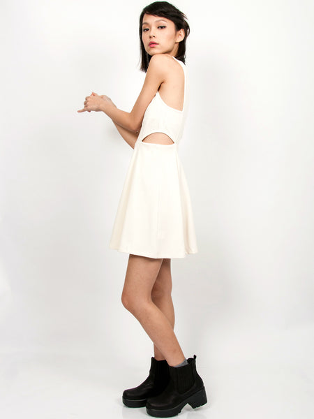 TAVI Textured Skater Dress (Cream)