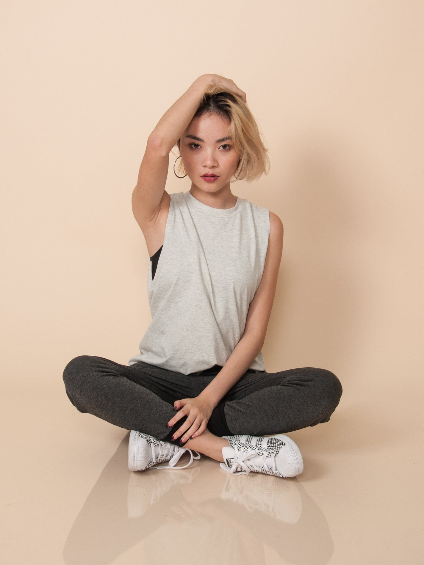 FRIDA Oversized Muscle Tank (Oatmeal)