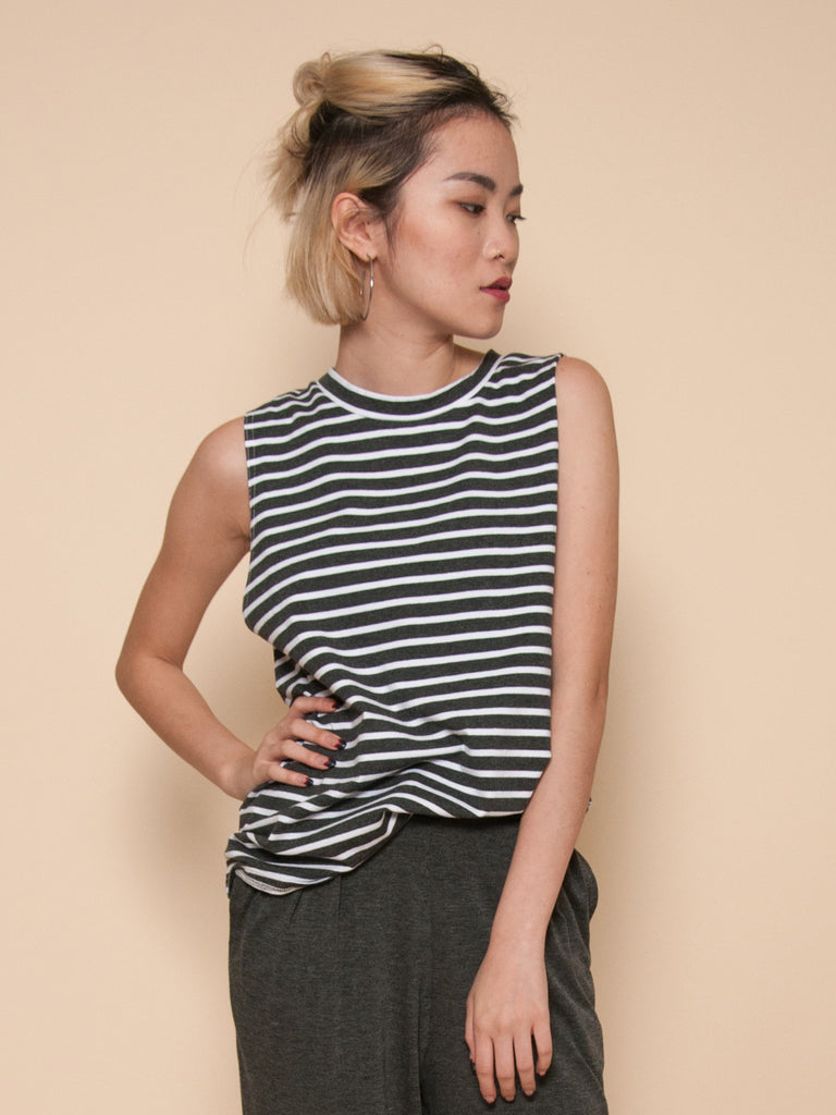 FRIDA Oversized Muscle Tank (Stripes)