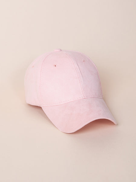 JADEN Pastel Faux Suede Cap (Cotton Candy)