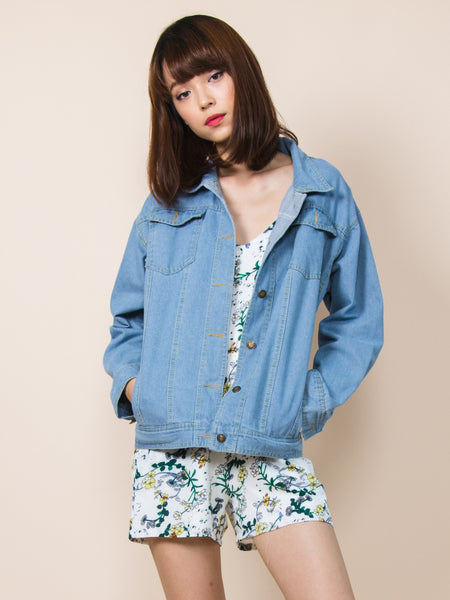 JENN Oversized Denim Jacket
