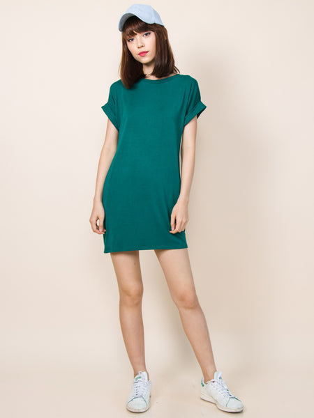 KYLIE Everyday Tee Shirt Dress (Green)