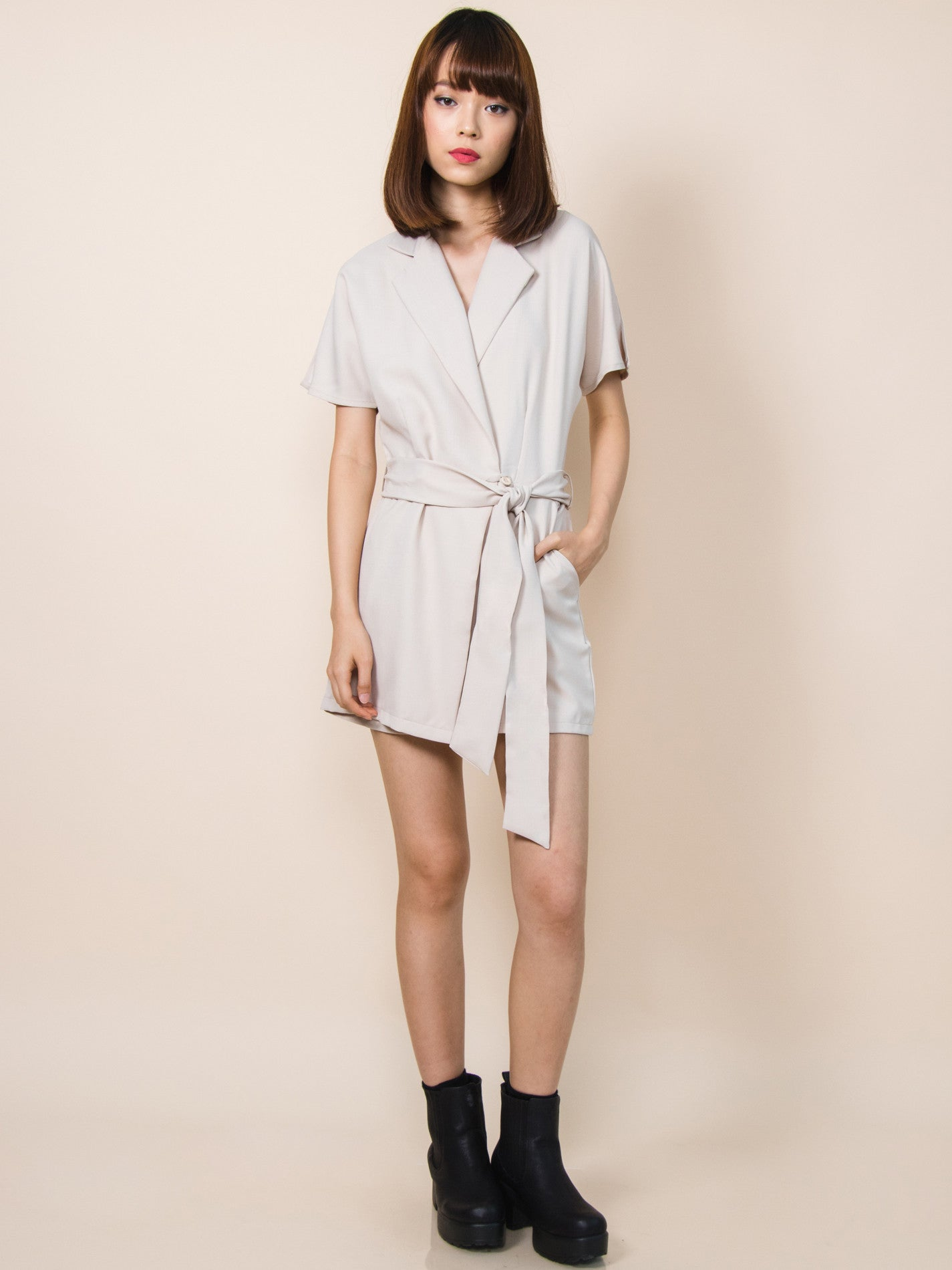PIPER Tuxedo Playsuit (Neutral)
