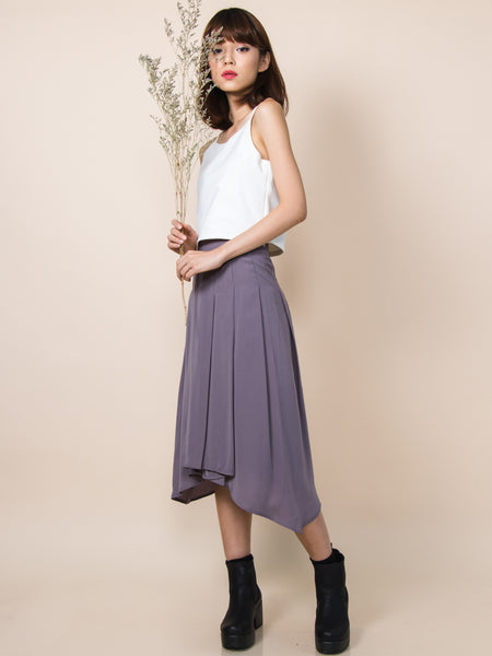 WILLOW Waterfall Drape Skirt (Dusk)