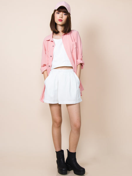 ERIN Loose Fit Shirt Dress (Pink)