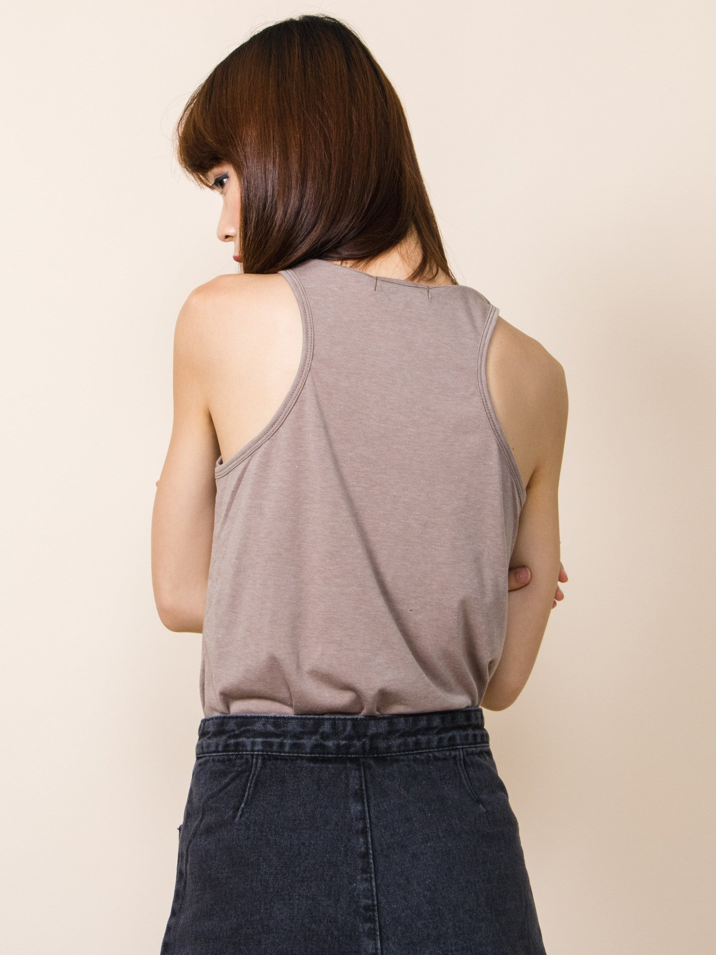 MIA Racerback Curved Hem Tank (Neutral)