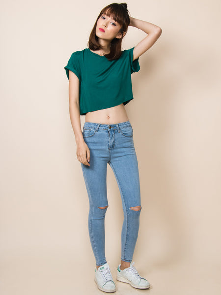 KENDALL Everyday Cropped Tee (Green)