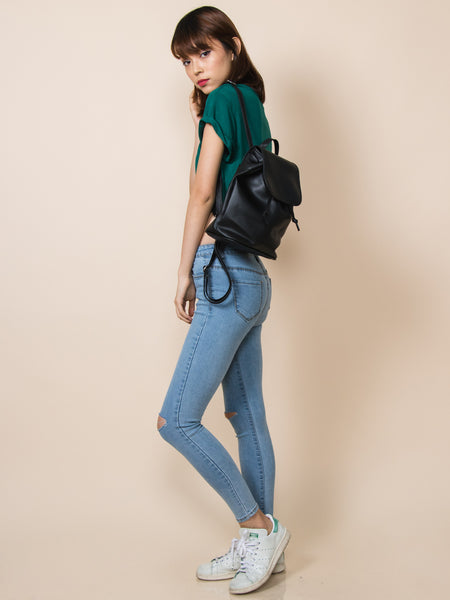 PHOEBE Mini Pleather Backpack