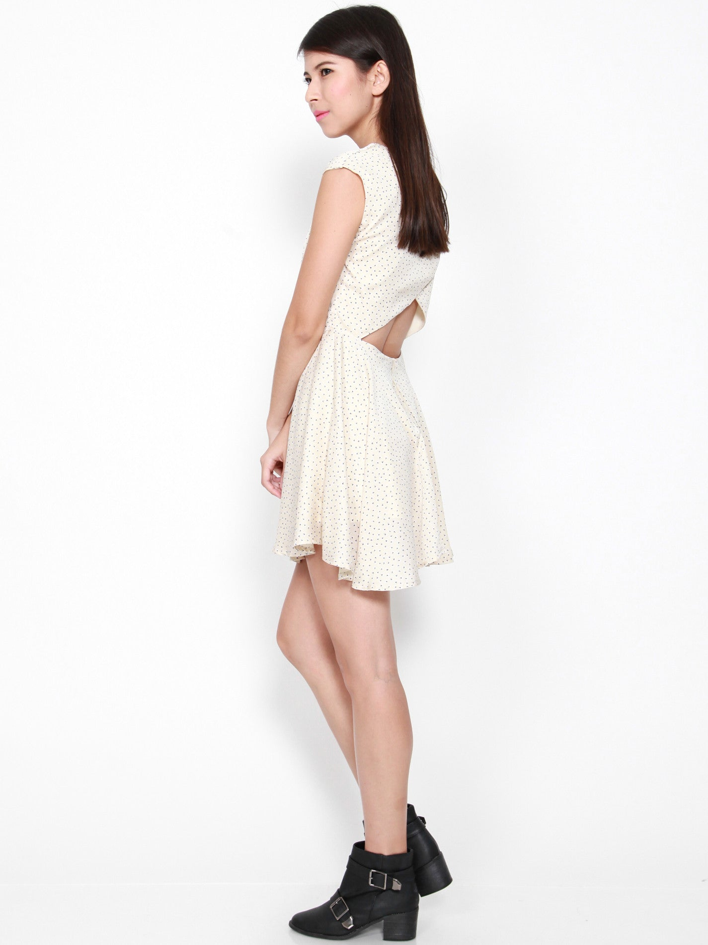 DANICA Layered Back Dress (Dandelion)