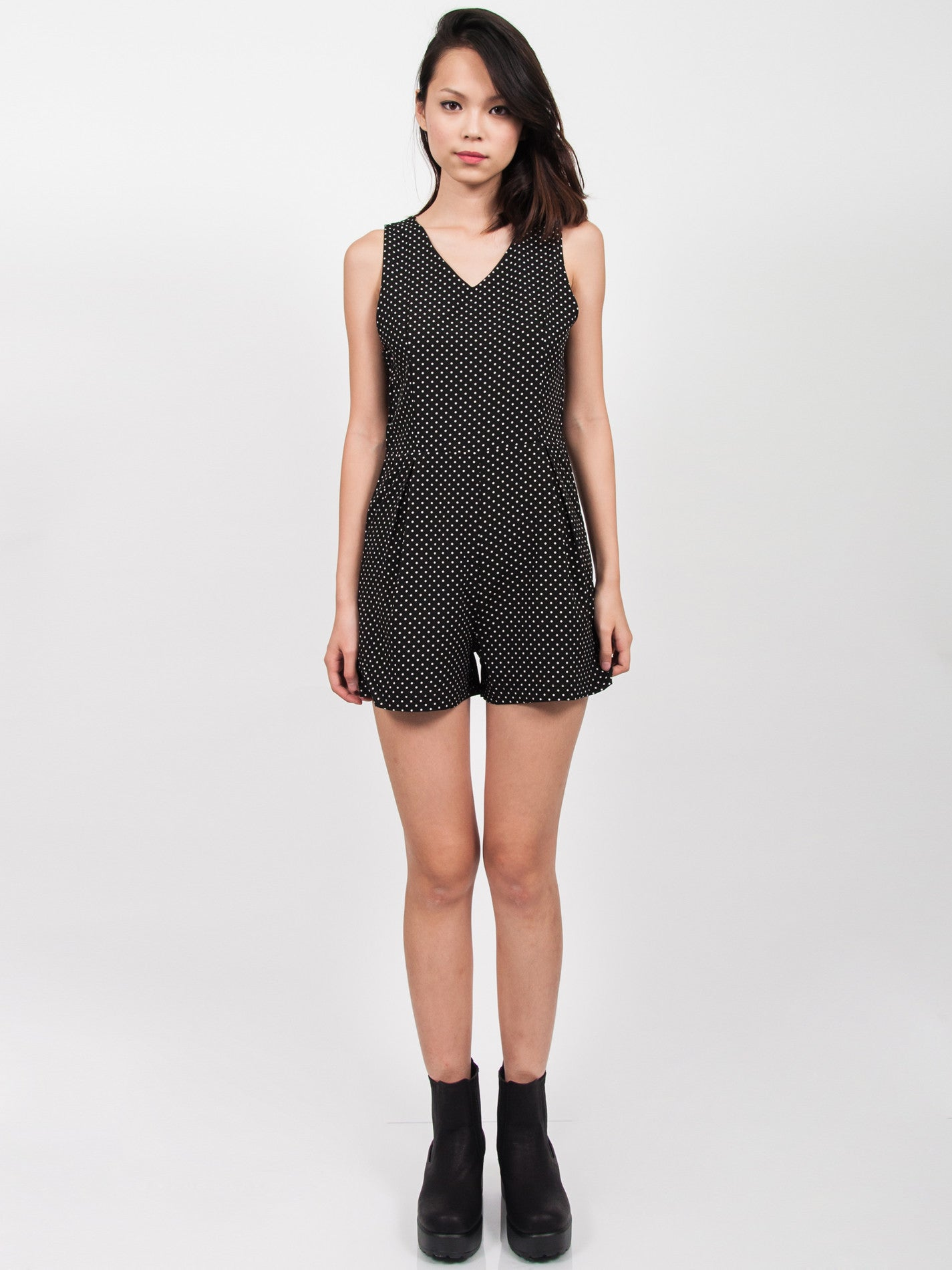 MIKAYLA Dressy Playsuit (Dots)