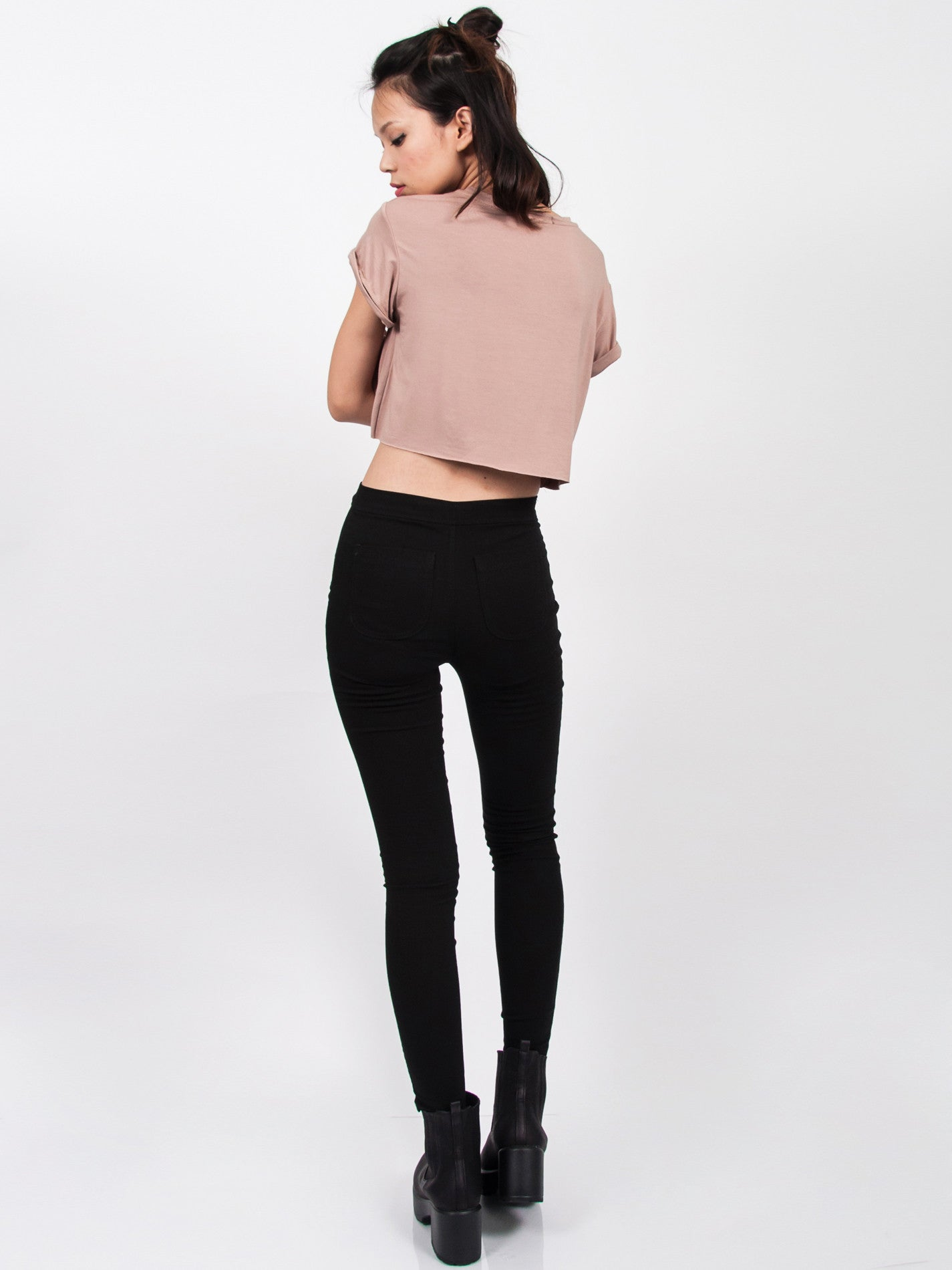 KENDALL Everyday Cropped Tee (Neutral)