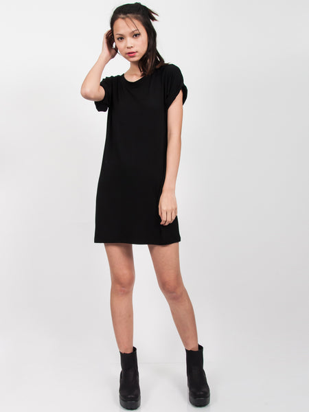 KYLIE Everyday Tee Shirt Dress (Black)