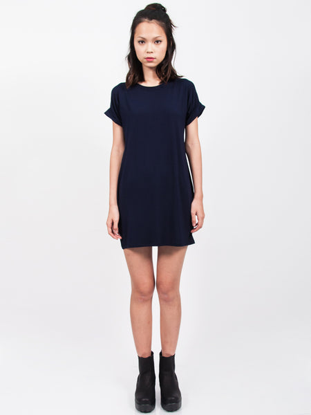 KYLIE Everyday Tee Shirt Dress (Navy)