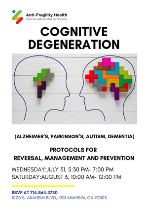 Cognitive Degeneration Workshop