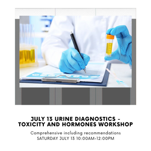 July 13 Urine Diagnostics - Toxicity and Hormones Workshop