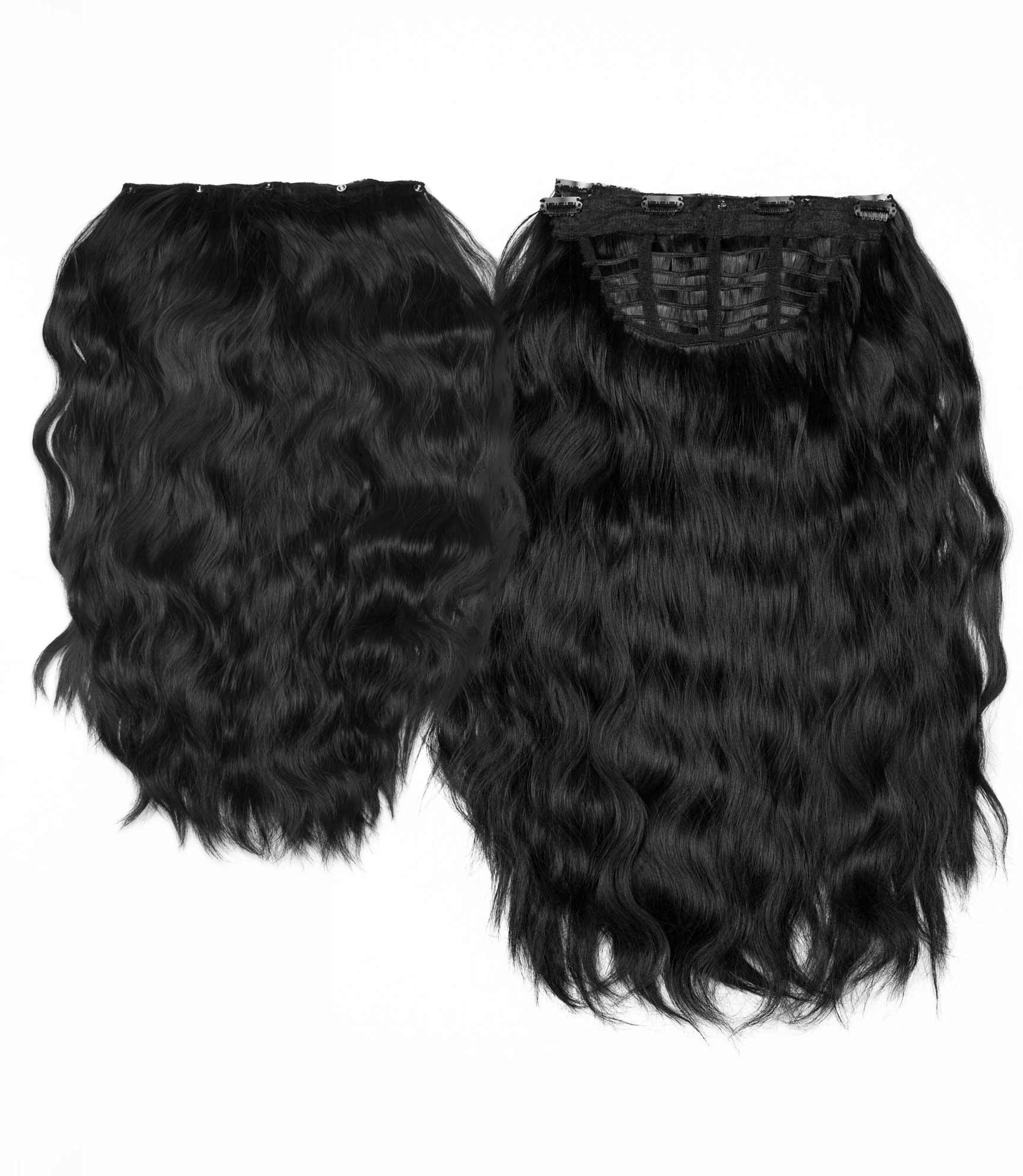 "Charlotte's Miracle Makeover HD Fibre Hair Extensions - 14"" / 22"" - Black (1319142096976)"