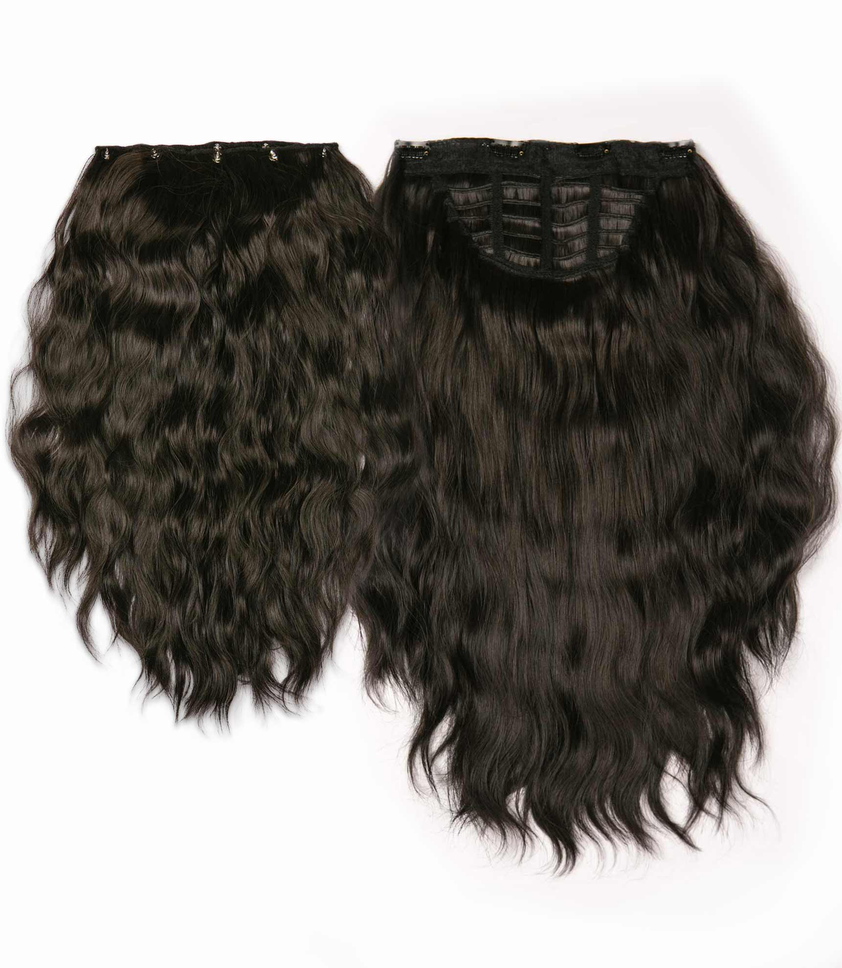 "Charlotte's Miracle Makeover HD Fibre Hair Extensions - 14"" / 22"" - Dark Brown (1319142260816)"